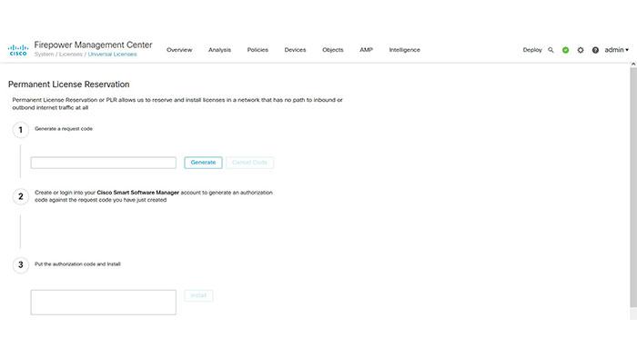 PLR License on Cisco FMC
